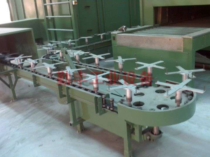 Automatic spray fixture chain