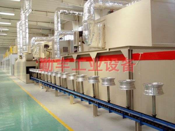 Tire coating production line