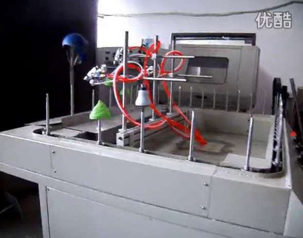 Mini-automatic line spray video